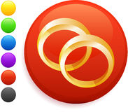 Wedding rings icon on round internet button Royalty Free Stock Photography