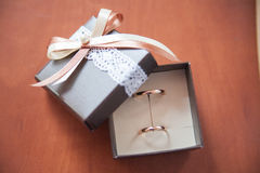 Wedding Rings In A Box Stock Image