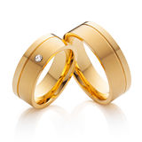 Wedding rings (incl. clipping-path) Royalty Free Stock Photography