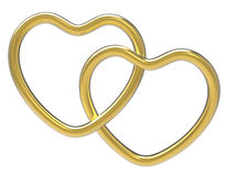Wedding Rings Indicates Valentine Day And Eternity. Wedding Rings Meaning Heart Shapes And Wedlock Stock Photos