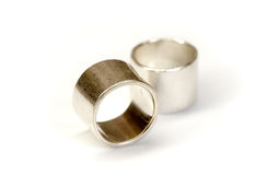 Wedding rings isolated Stock Image