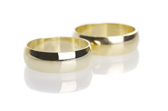 Wedding rings isolated Royalty Free Stock Images