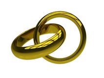 Wedding rings isolated Royalty Free Stock Photos