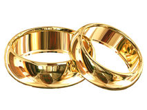 Wedding rings isolated Royalty Free Stock Photo