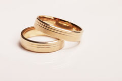 Wedding rings, isolated Stock Images