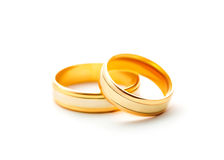 Wedding rings isolated on white background Stock Images