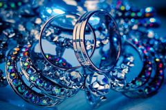 Wedding rings and jewelry, macro. Stock Images