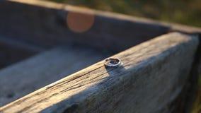 Wedding rings stock video footage