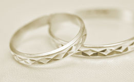 Wedding rings macro Stock Photo