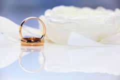 Wedding rings macro Royalty Free Stock Photography