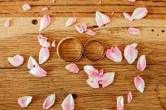 Wedding rings macro Royalty Free Stock Images