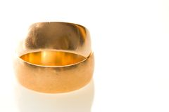 Wedding rings made of gold Stock Photography