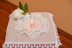 Wedding rings. Royalty Free Stock Photo
