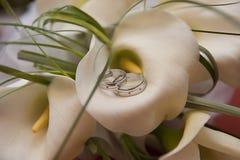 Free Wedding Rings On A Calla Stock Photos - 16992343