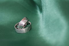Wedding Rings On Green Royalty Free Stock Photography