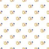 Wedding rings pattern seamless. Wedding rings pattern in cartoon style. Seamless pattern vector illustration stock illustration