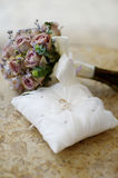 Wedding rings on a pillow Royalty Free Stock Image
