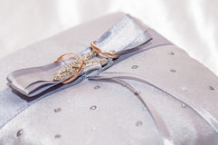 The wedding rings on a pillow Royalty Free Stock Photo