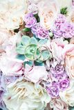 Wedding rings on flowers Stock Photography
