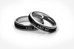 Wedding rings Platinum Royalty Free Stock Photo