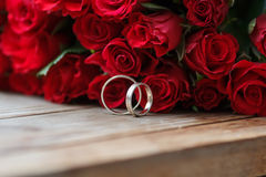 Wedding Photo Wallpaper Redrose Royalty Free Stock Image