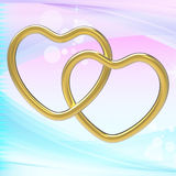 Wedding Rings Represents Heart Shapes And Eternity Royalty Free Stock Image
