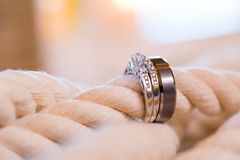 Wedding Rings and Rope Royalty Free Stock Image
