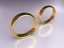 Wedding Rings Separately Stock Photo