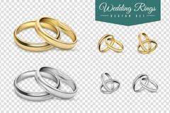 Wedding Rings Set Stock Photo