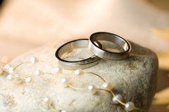 Wedding rings of silver Stock Image