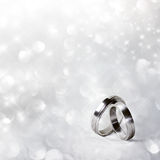 Wedding rings in silver Stock Photography