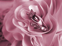 Wedding Rings Soft Mood Pink royalty free stock photo