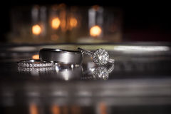 Wedding rings stacked on beautiful background 2. Wedding rings stacked on beautiful background Royalty Free Stock Image