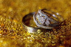Wedding rings stacked on beautiful background. Wedding rings stacked on beautiful background Stock Images