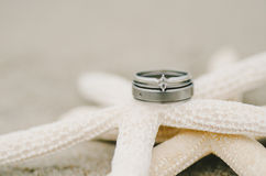 Wedding Ring Starfish Stock Images