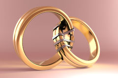 Wedding Rings symbolizing the Reunion between two people Stock Image