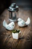 Wedding rings tabletop Stock Image