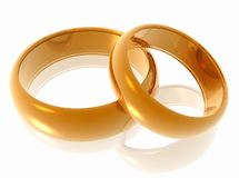 Wedding rings. Stock Image