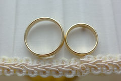 Wedding rings Royalty Free Stock Photography