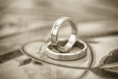 Wedding rings. Two wedding rings Love concept Royalty Free Stock Photos
