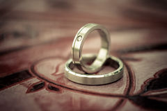 Wedding rings. Two wedding rings Love concept Royalty Free Stock Photography