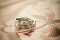 Wedding rings. Two rings,wedding rings Love concept Stock Photos