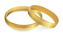 Wedding rings. Vector Illustration royalty free stock image