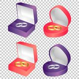 Wedding rings vector stock illustration