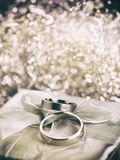 Wedding Rings vintage style Royalty Free Stock Image