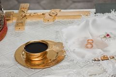 Wedding rings before wedding Royalty Free Stock Photography