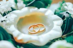 Wedding Rings. Close Up Shot Royalty Free Stock Photo