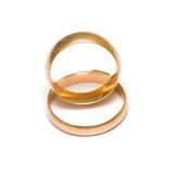 Wedding rings on white 2 Stock Photo