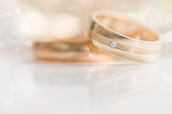 Wedding rings. Royalty Free Stock Images