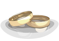 Wedding rings. Royalty Free Stock Photos